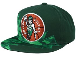 Boston Celtics Squadra Green Snapback - Mitchell & Ness