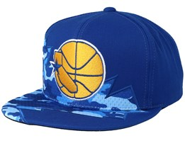 pretty nice 0035f 79686 Golden State Warriors Squadra Blue Snapback - Mitchell   Ness
