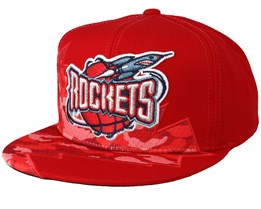 pretty nice e6c3b 7085a Houston Rockets Squadra Red Snapback - Mitchell   Ness