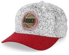 Houston Rockets No Rest Speckle White/Red 110 Adjustable - Mitchell & Ness