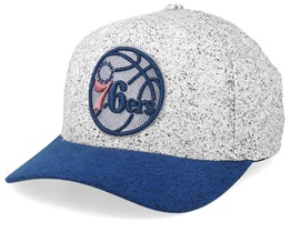 Philadelphia 76ers No Rest Speckle White/Blue 110 Adjustable - Mitchell & Ness