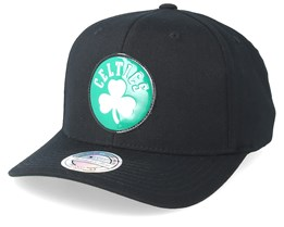 Boston Celtics Chrome Logo Black 110 Adjustable - Mitchell & Ness