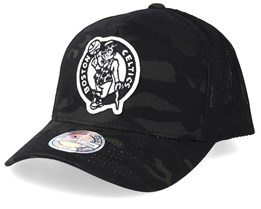 Boston Celtics Multicam Camo/Black 110 Trucker - Mitchell & Ness