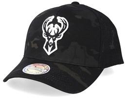 Milwaukee Bucks Multicam Camo/Black 110 Trucker - Mitchell & Ness