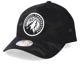 Minnesota Timberwolves Multicam Camo/Black 110 Trucker - Mitchell & Ness