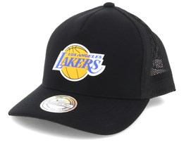 6309cb2f8f7bd0 LA Lakers Vintage Jersey Black 110 Trucker - Mitchell & Ness