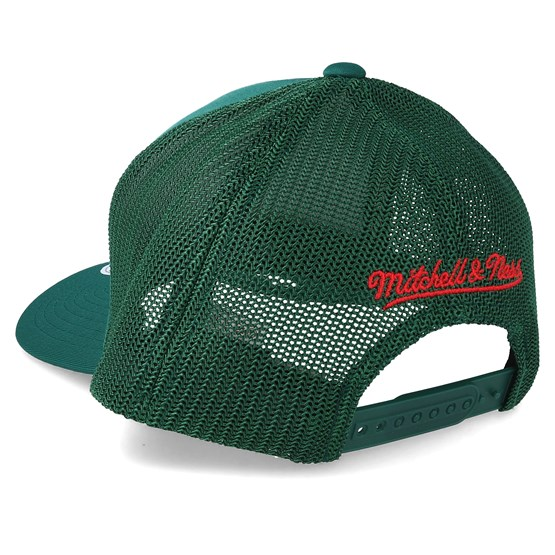 wholesale dealer a4169 f82ec Milwaukee Bucks Vintage Jersey Green 110 Trucker - Mitchell & Ness