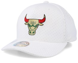 Chicago Bulls Ace White 110 Adjustable - Mitchell & Ness