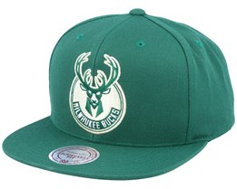 Milwaukee Bucks Wool Solid Green Snapback - Mitchell & Ness