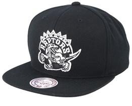 Toronto Raptors Wool Solid Black Snapback - Mitchell & Ness