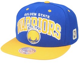 Golden State Warriors Team Arch 2 Tone S Blue/Yellow Snapback - Mitchell & Ness