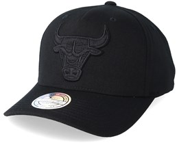 Chicago Bulls Tonal Pinch Panel Black/Black 110 Adjustable Mitchell Ness