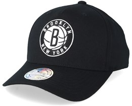 Brooklyn Nets Tonal Pinch Panel Black 110 Adjustable Mitchell Ness