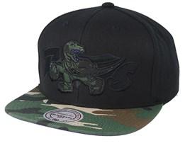 Toronto Raptors Woodland Blind Black/Camo Snapback - Mitchell & Ness