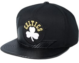 Boston Celtics Kevlar Shark Tooth Black Snapback - Mitchell & Ness