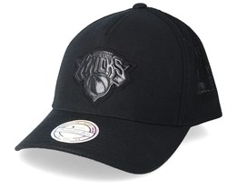New York Knicks Zig Zag 110 Black Trucker - Mitchell & Ness