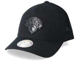 New York Knicks Zig Zag 110 Black Trucker - Mitchell & Ness