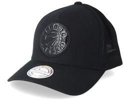 Toronto Raptors Zig Zag 110 Black Trucker - Mitchell & Ness