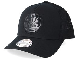 Golden State Warriors Zig Zag 110 Black Trucker - Mitchell & Ness
