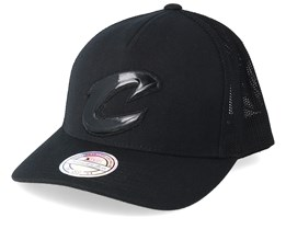 Cleveland Cavaliers Zig Zag 110 Black Trucker - Mitchell & Ness