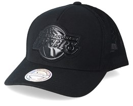 LA Lakers Zig Zag 110 Black Trucker - Mitchell & Ness