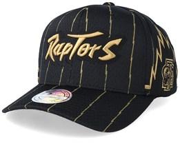Toronto Raptors Jersey Mesh Black 110 Adjustable - Mitchell & Ness