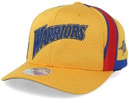 Golden State Warriors Jersey Mesh Yellow 110 Adjustable - Mitchell & Ness