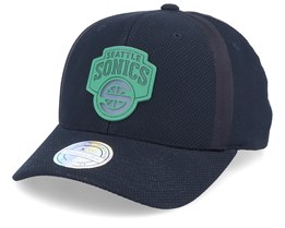 Seattle Supersonics Hideout Mesh Black 110 Adjustable - Mitchell & Ness