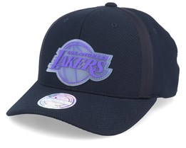 LA Lakers Hideout Mesh Black 110 Adjustable - Mitchell & Ness