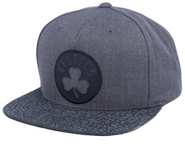 Boston Celtics Charcoal/Cracked Reflective Snapack - Mitchell & Ness