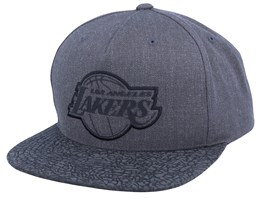 LA Lakers Charcoal/Cracked Reflective Snapack - Mitchell & Ness