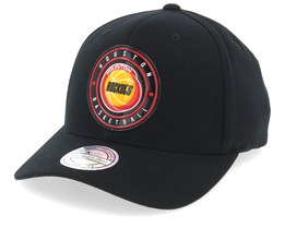 Houston Rockets Circle Weald Patch Black 110 Adjustable - Mitchell & Ness