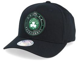 Boston Celtics Circle Weald Patch Black 110 Adjustable - Mitchell & Ness