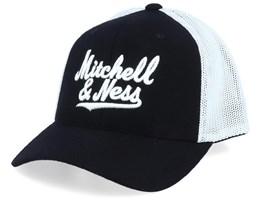 Own Brand Baseball Script Wool Black/Vintage White 110 Trucker - Mitchell & Ness