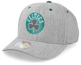 Boston Celtics Team Reflective Heather Grey/Green 110 Adjustable - Mitchell & Ness