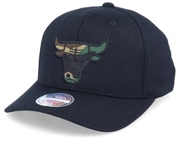 Chicago Bulls Camo Logo Black/Camo 110 Adjustable - Mitchell & Ness