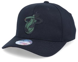 Miami Heat Camo Logo Black/Camo 110 Adjustable - Mitchell & Ness