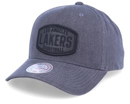 LA Lakers Coated Patch Charcoal/Black Adjustable - Mitchell & Ness