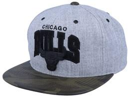 Chicago Bulls Lux Light Heather Grey/Camo Sanpback - Mitchell & Ness