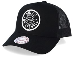 Chicago Bulls Team Patch Black/White Trucker - Mitchell & Ness