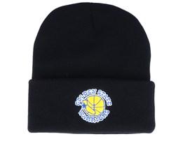 Golden State Warriors Team Logo Black Cuff - Mitchell & Ness