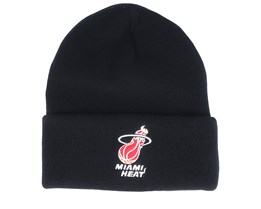Miami Heat Team Logo Black Cuff - Mitchell & Ness
