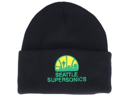 Seattle Supersonics Team Logo Black Cuff - Mitchell & Ness
