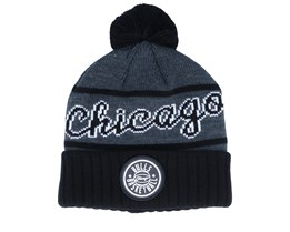 Chicago Bulls Reflective Patch Hether Black/Black Cuff - Mitchell & Ness
