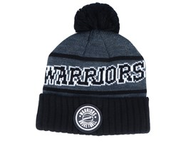 Golden State Warriors Reflective Patch Hether Black/Black Cuff - Mitchell & Ness