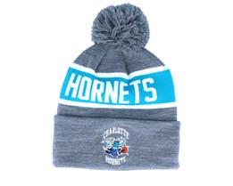 Charlotte Hornets Team Tone Grey/Teal Pom - Mitchell & Ness