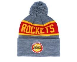 Houston Rockets Team Tone Grey/Red Pom - Mitchell & Ness