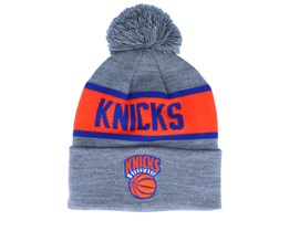 New York Knicks Team Tone Grey/Orange Pom - Mitchell & Ness