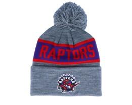 Toronto Raptors Team Tone Grey/Blue Pom - Mitchell & Ness
