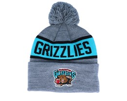 Vancouver Grizzlies Team Tone Grey/Teal Pom - Mitchell & Ness